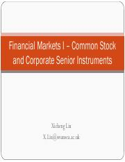 Financial Markets I – Common Stock and Corporate Senior Instruments.pdf