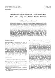 Determination of Reservoir Model from Well