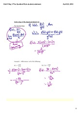 The Quotient Rule student