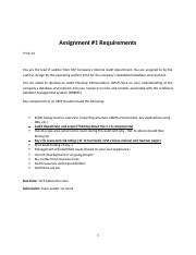 Assignment-One-Requirement