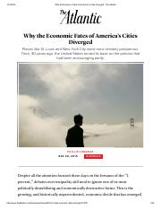 Phillip Longman, Why the Economic Fates of America's Cities Diverged - The Atlantic