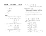 Exam 3 Solution Spring 2013 on Calculus 1 for Engineers