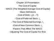 Chapter 10 Presentation WACC(1)