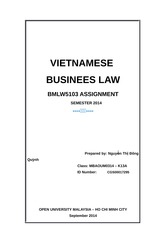 VIETNAMESE BUSINESS LAW