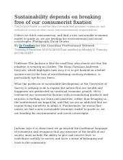 Sustainability depends on breaking free of our consumerist fixation-1.docx