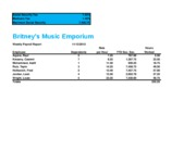 Lab 3-2 Britney's Music Emporium Weekley Payroll Report