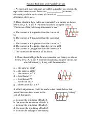 Practice Problems with Parallel Circuits.doc