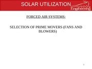 solar utlization lec 11 blowers