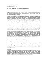 EC440 Creating learning enviroment - Assignment 4 .doc