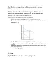 7. The Slutsky decomposition and the compensated demand curve.docx