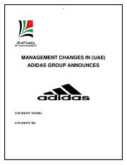 management  change
