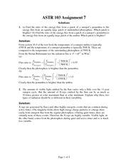 ASTR 103 Fall 2012 Assignment 7 Solutions