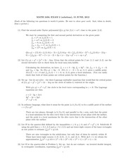 MATH 2450 Summer 2012 Midterm 2 Solutions