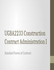UGBA2233_CCAI_4a_-_Standard_Forms_of_Contract