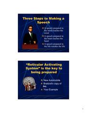 Three Steps to Making a Speech