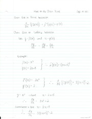 More on the Chain Rule