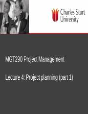 MGT290 Lecture 4