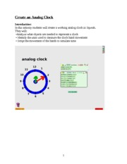 Create an Analog Clock