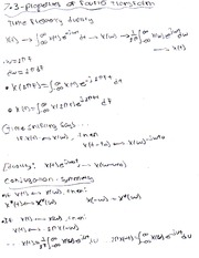 Fourier Properties & Transform Elements