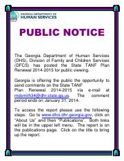 PublicNotice-State Plan Renewal-2014-2015