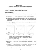 Class Notes -Outliers