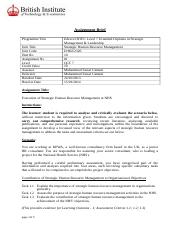 Faisal usmani_Strategic HRM assignment Final Assignment.doc