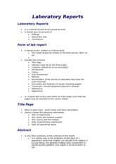 Laboratory Reports 2013-14 how to