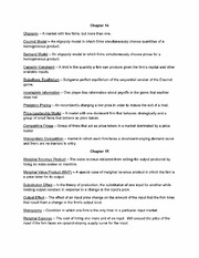 Chapter 14 - 18 Final Review Notes and Vocab