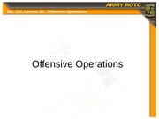 Lesson 20 - Offensive Operations