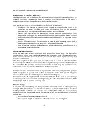 basics in laboratory safety notes 2013