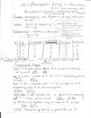 Truth Statments & Congruence of Triangle Proofs Study Sheet