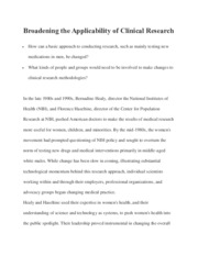 Broadening the Applicability of Clinical Research