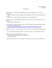 Womens' History Paper Bibliography