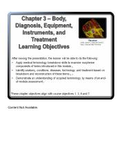 Chapter 3 Body, Diagnosis, Equipment, Instruments, and Treatment 1