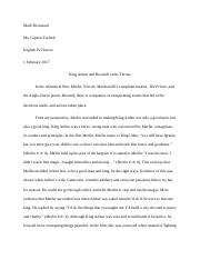 rough draft - Beowulf extension task