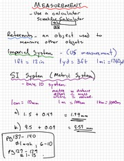 Measurements Notes