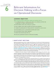 Relevant information for decision making - ch6