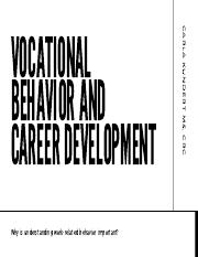 Vocational behavior and career development Guest Lecture.pdf