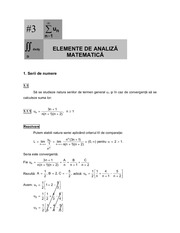 Elements of mathematical analysis lecture note