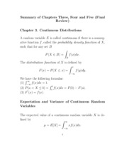 Final Exam Review Solution on Probability and Statistics 1