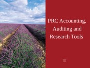PRC_Accounting__Auditing_and_Research_Tools
