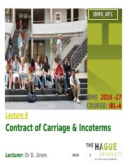 Lecture 6. Contract of Carriage & INCOTERMS.pptx