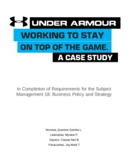 under armour case study essay Case studies, research papers, and project reports problem-solving tasks for economics, physics and other science classes whatever obscure task your instructor has assigned, don't panic.