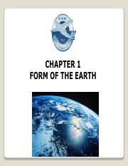 CH-1 Form of the Earth
