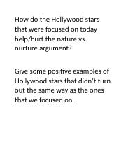 Hollywood Stars Question.docx