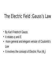 Lect 6 Electric Fields _ Gauss's Law