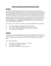 Evidence Class Quiz Three Supplemental Practice Questions.docx