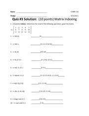 Practice Quiz #3 (With Solutions)