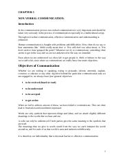 Non-Verbal communication  & Intercultural Communication- Chapter 5.doc