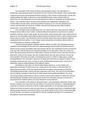 civic education essay